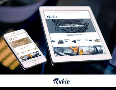 Website design for Rubio - Lubricants provider