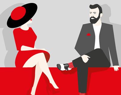 Toilet signs - Man & woman illustrations