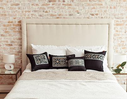 Hand made embroidered pillows Ukrainian pattern