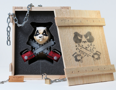 Chainsaw Panda Toy