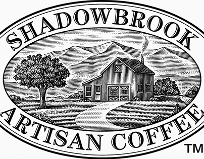 Shadowbrook Artisan Coffee Logo created by Steven Noble