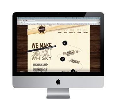 Web Design BROMANCE whisky