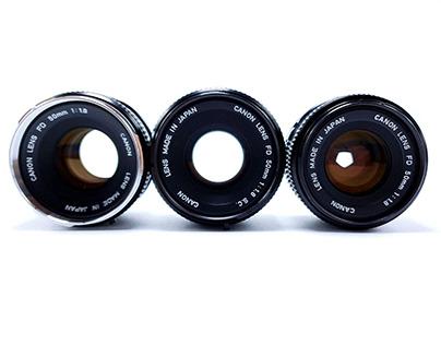 Canon 50mm f/1.8 FD Lens Series