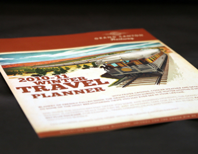 "11"" x 17"" Bi-fold Winter Travel Brochure"