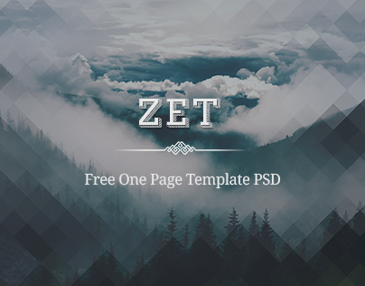 Zet - Free One Page Template PSD