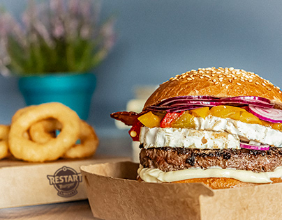 Food photography for burger restaurant
