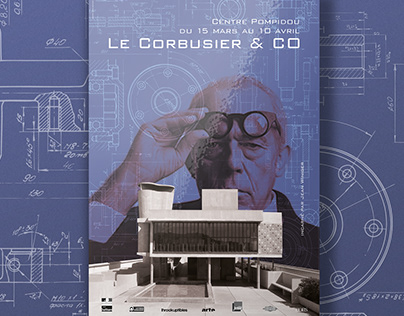 Le Corbusier & Co - Exhibition Poster and communication