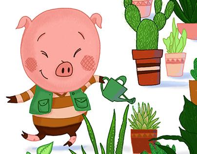 Botanical Pig