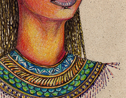 African Beauty - Hand Drawing