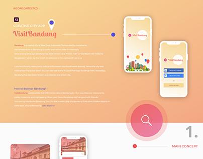 VisitBandung - Creative City App (#IconContestXD)