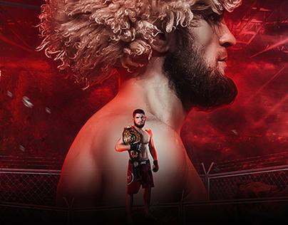 UFC Poster Design (Khabib Nurmagomedov)