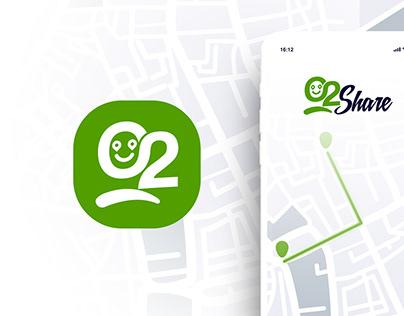 O2 Share Logo Mobile APP