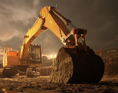 Excavator CGI