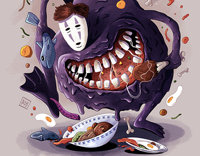 Hungry No-face illustration