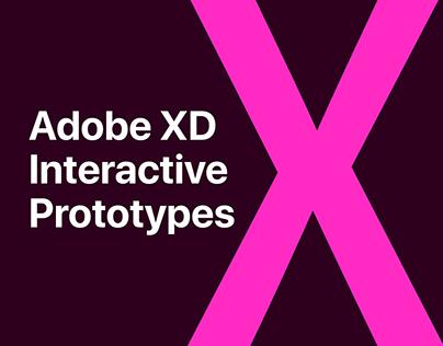 Web & Mobile - Adobe XD - Interactive Prototypes.