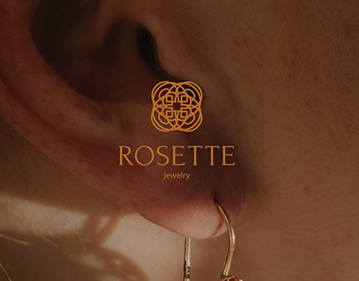 ROSETTE   Logo for gold jewelry salon