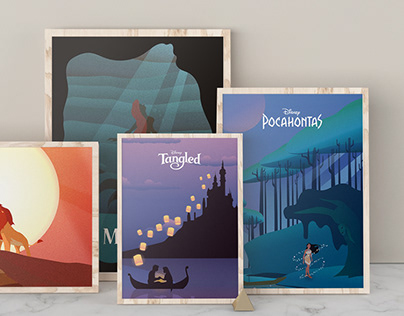 Illustration - Disney Movie Posters