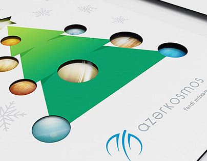 Azercosmos — New Year Greeting Card