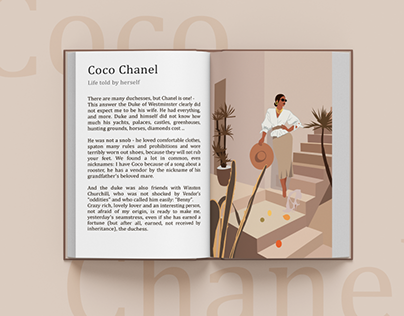Illustration for the book about Coco Chanel