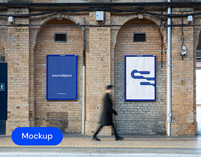 Train Station Posters 01 | Signage Mockup Template