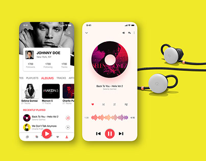Music App UI Concept Free Download