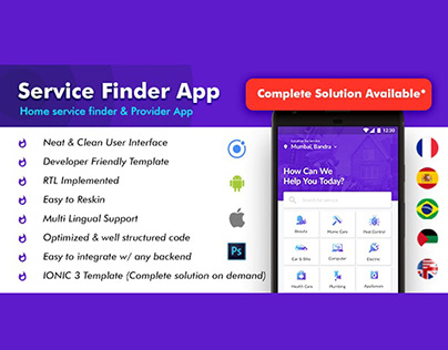 Home Service|Urban Clap Clone- User & Service Giver App