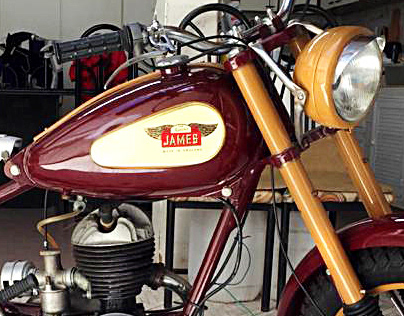 Restoration of the James classic motorcycle