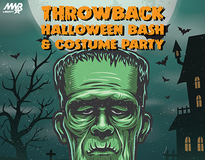 Throwback Halloween Bash Marketing Materials