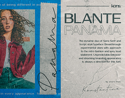 BLANTE PANAMA - Duo Sans Serif and Handwriting Fonts