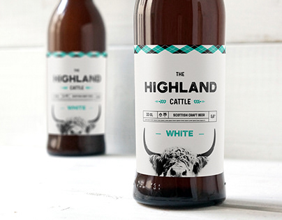 Beer packaging Highland Cattle