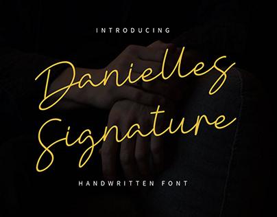(Freebie) Danielle Signature - Handwritten Font