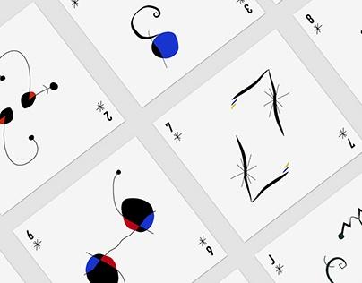jeu de cartes typo - abstrait