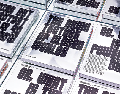 'The Architecture of Closed Worlds,' Book Design