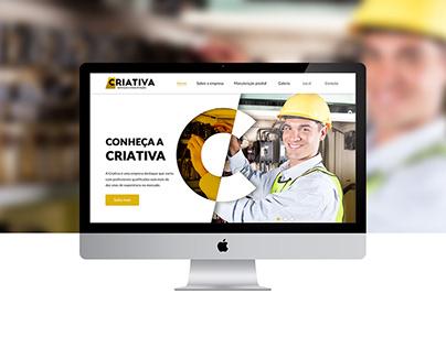 Layout Site - Criativa Serviços