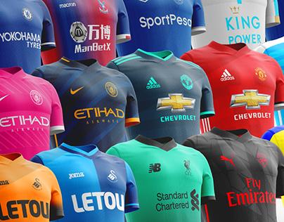 Premier League Kits Redesigned (17-18)