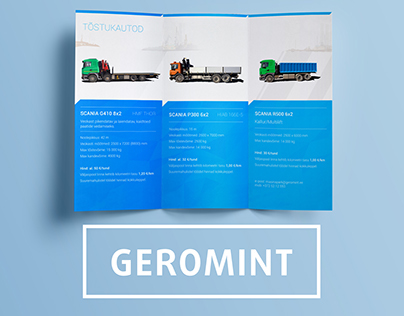 GEROMINT: Tri Fold Brochure & ID elements