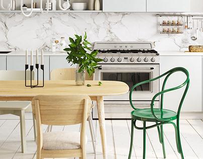 Simple Kitchen   corona render