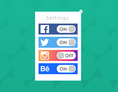 Daily UI Challenge #007: Settings