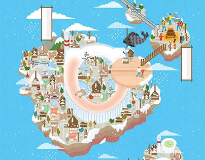 TOTO CITY 一個絕對潔淨舒適的城市 | 網站插畫