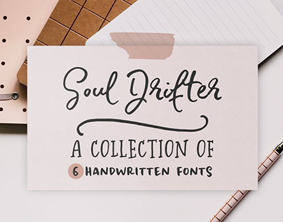 Soul Drifter a handwritten font collection