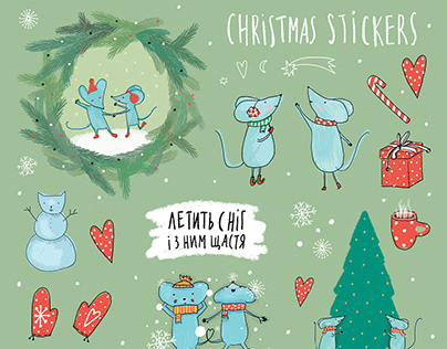 Stickers and winter tags