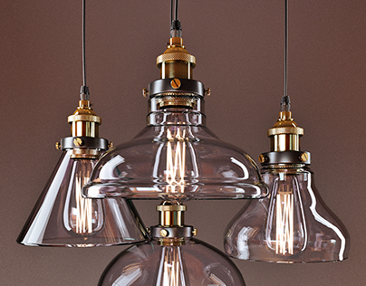 American vintage pendant lights. Free 3d model