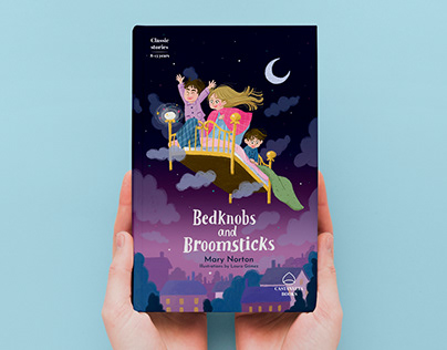 Book covers: Bedknobs and Broomsticks, Puss in boots...