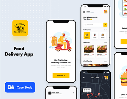 Food Ping - Food Delivery App - UI/UX Design Case Study