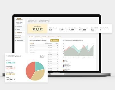 Shutterstock - Analyse et UI application web