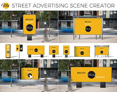 Streetfy: Street Advertising Scene Generator Mockup