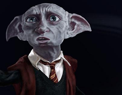DESENHO Dobby como estudante de Hogwarts