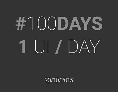 #100 #DailyUI (begin on 19 october 2015)