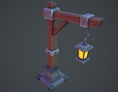3D Stylized Floor Lamp