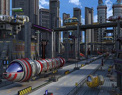 Scifi Street City